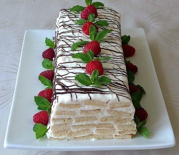Cake «Honey log» For the dough: Honey — 80-90 grams (2-3 tablespoons) sugar — 2/3 cup flour — 2,5-3stakana...