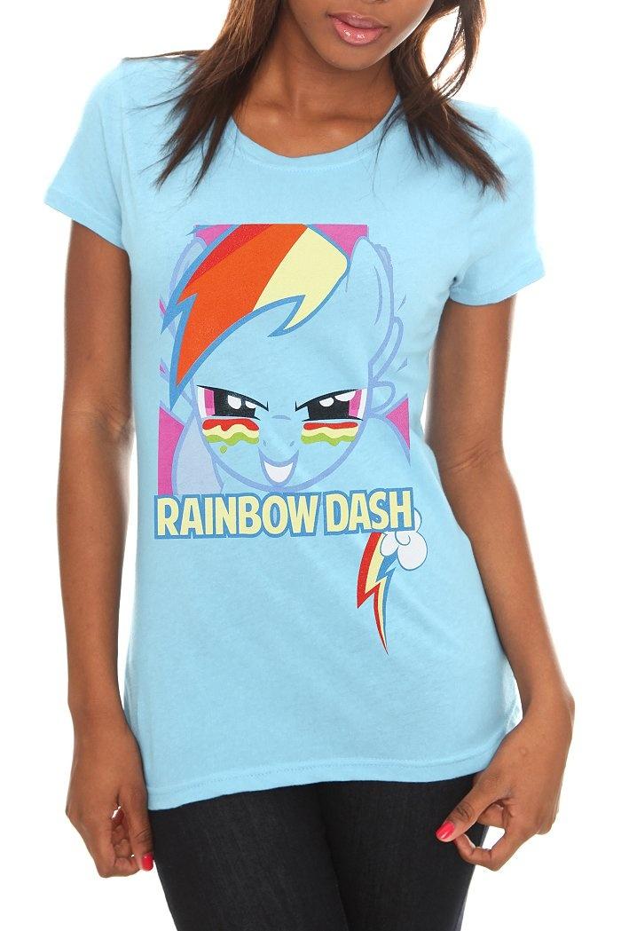MY LITTLE PONY RAINBOW DASH FACE GIRLS T-SHIRT