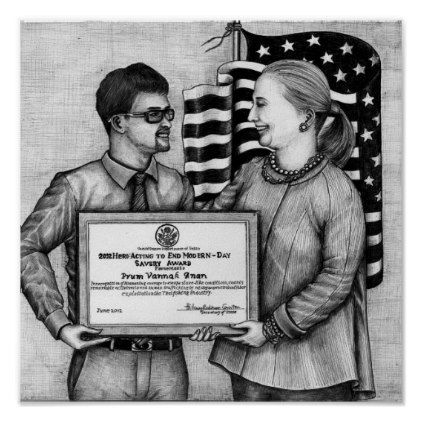 Dead Eye Poster of Vannak and Hillary Clinton 2 - #customizable create your own personalize diy