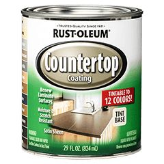 Rust-Oleum® Countertop Coating will renew laminate countertops, cabinets and furniture. It will also inhibit the growth of mold and mildew.