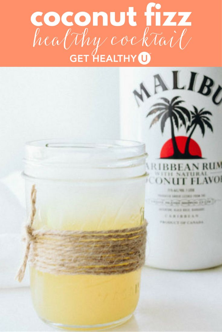 This delicious, low- calorie drink will transport you to a tropical paradise. All you need is two ounces of Malibu rum, one ounce of pineapple juice, and some club soda. Mix in your cocktail glasses and serve!