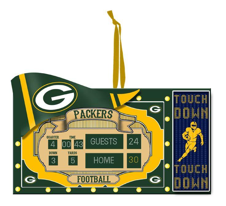 Green Bay Packers Scoreboard Ornament