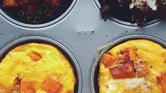 Why You Should Bake Eggs In Muffin Tins - Bon Appétit | Bon Appetit. LEISA: I have other recipes here for versions of this. This is 6, two eggs each.