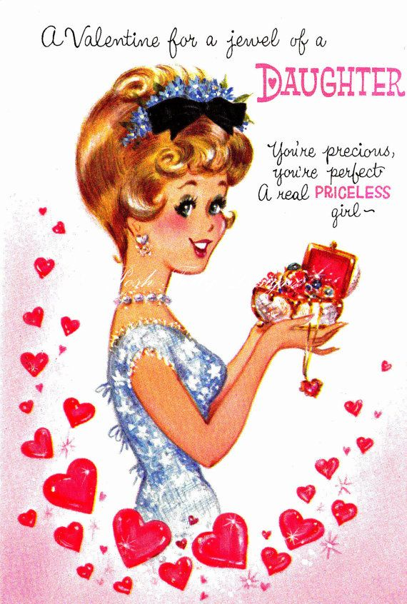 items similar to a valentines for my precious daughter vintage digital image on etsy