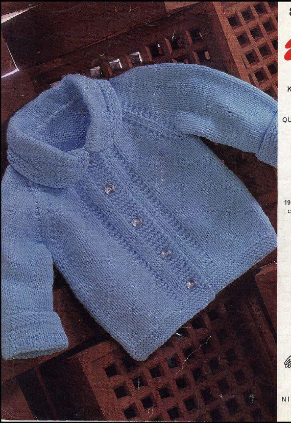 Vintage PDF Baby Knitting Patt |