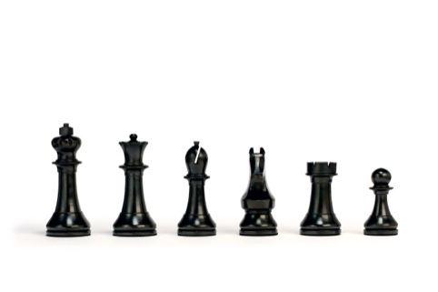 Black pieces. World Chess set by Daniel Weil