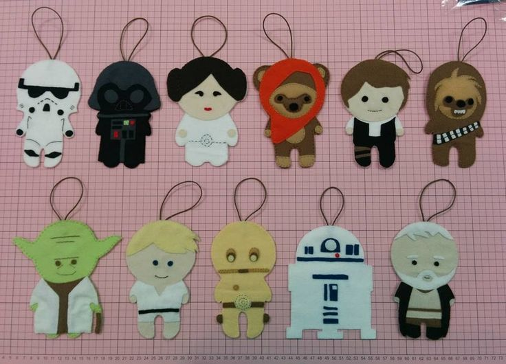 Star Wars Felt #StarWars #Feltro #Felt Maybe something for https://Addgeeks.com ?