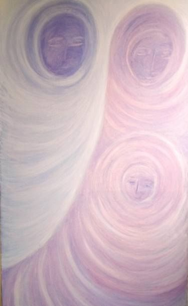 "Saatchi Art Artist ageliki baka; Painting, ""Cosmic Creation - Trinity"" #art"