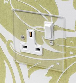 Forbes and Lomax - invisible plate dimmers, switches and sockets - 13A switched single socket