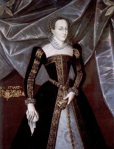 portrait of Mary, queen of Scots    Such an interesting person and such an amazing story.  Elizabeth always gets the good press, but my family supported the Stuarts.