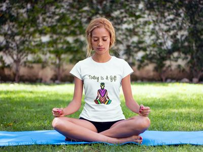 Today Is a Gift Yoga T-Shirt, Meditation, Buddha