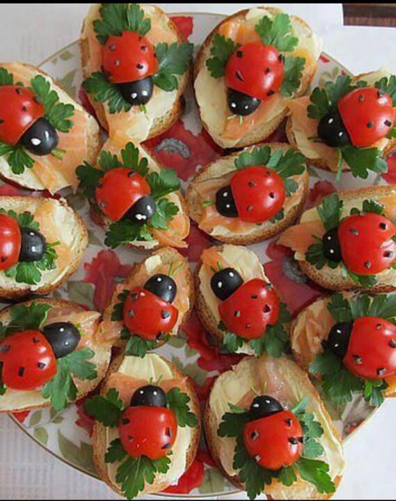 Lady bug snacks! So cute.