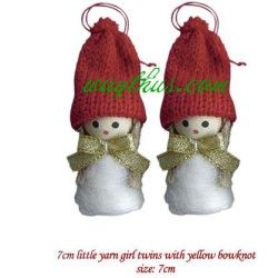 Christmas Decorations Dolls Two Girls