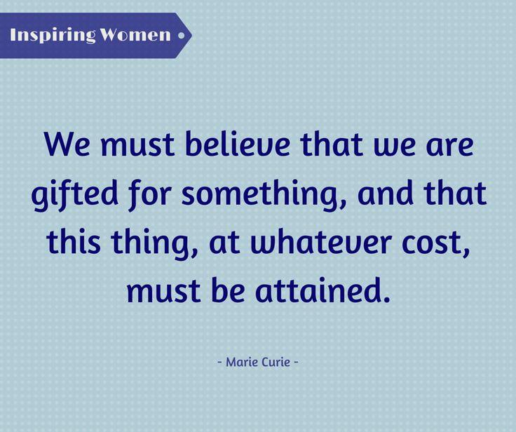 Η Marie Curie, πρωτοπόρος της εποχής της, αποτελεί έμπνευση, καθώς υπήρξε η πρώτη γυναίκα που κέρδισε βραβείο Nobel!