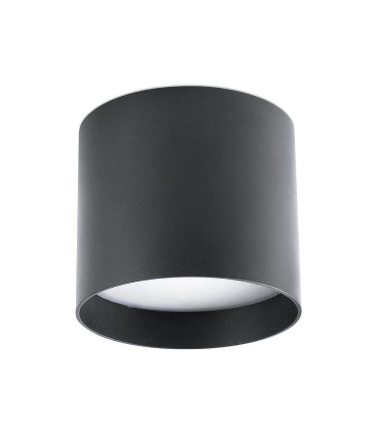 Lámpara plafón redondo negro NATSU LED