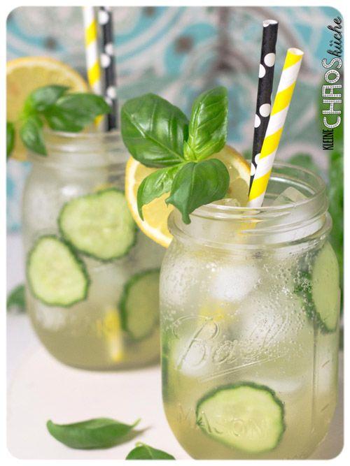 Gurken Basilikum Sirup - Gurkenlimo - Gurken Basilikum Limonade - Cucumber Basil Lemonade