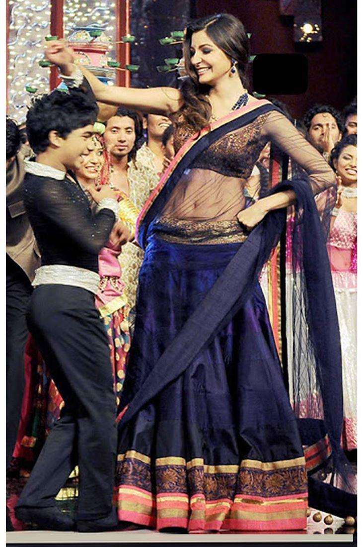 Anushka Sharma Bollywood Replica Lehenga at Simmaya.com - Gorgeous Anushka Sharma India's got talent Bollywood Replica Lehenga