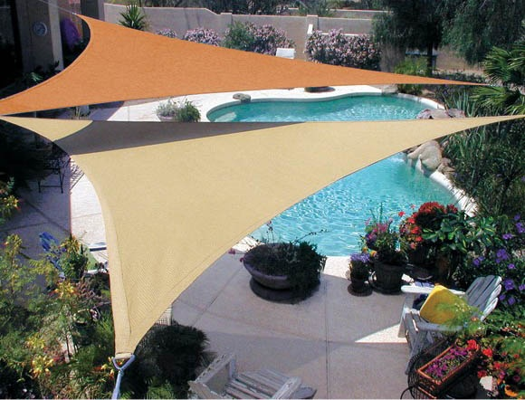 Coolaroo Triangle shade with 90% UV block.  I am loving this...