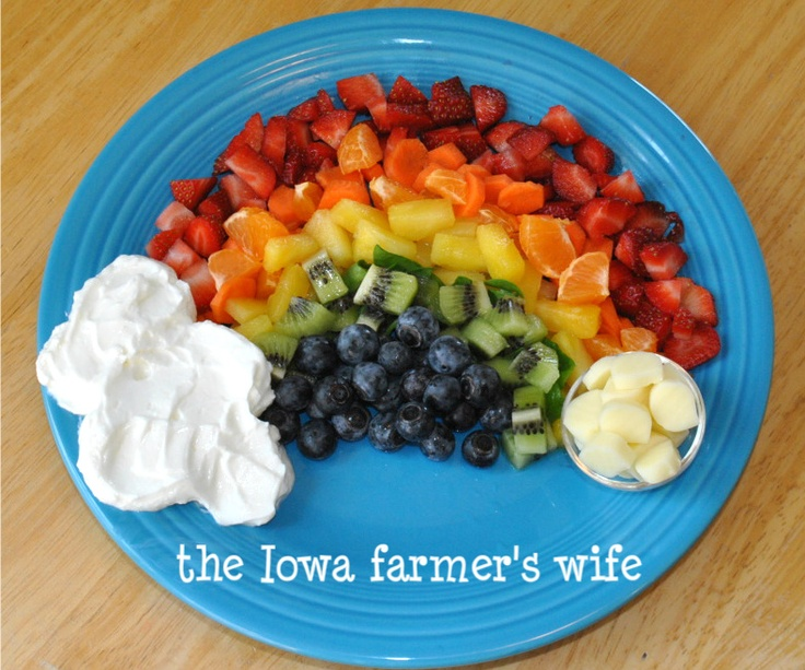 The Iowa Farmer's Wife: Eating A Rainbow and a Blog Hop