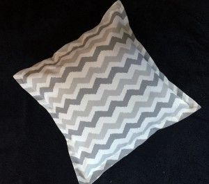 Grey and White Zig Zag Pillow