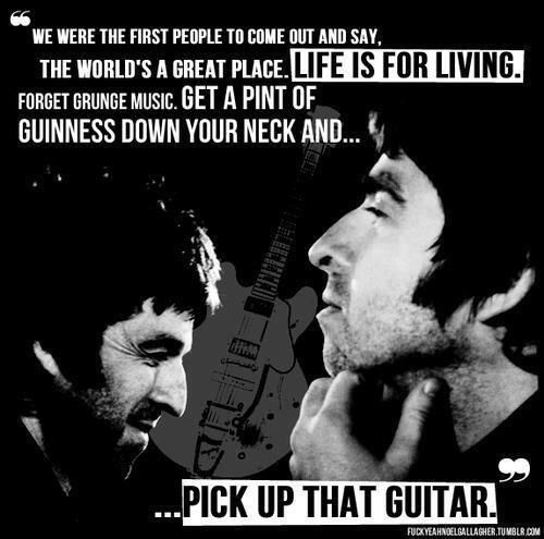 noel gallagher - life is for living