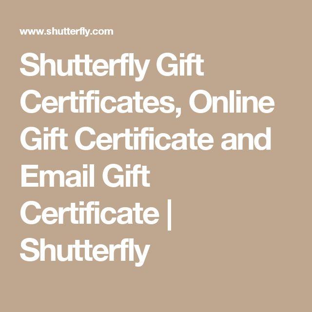 Shutterfly Gift Certificates, Online Gift Certificate and Email Gift Certificate | Shutterfly