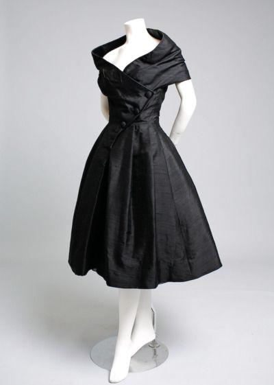 Dior Haute Couture, COURTE, 1955!!!!!!!!!!!!!!!!!!!!!