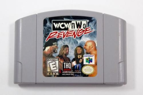 Wcw Nwo Revenge Wrestling N64 Video Game Cartridge Nintendo 64 - Tested - Works!