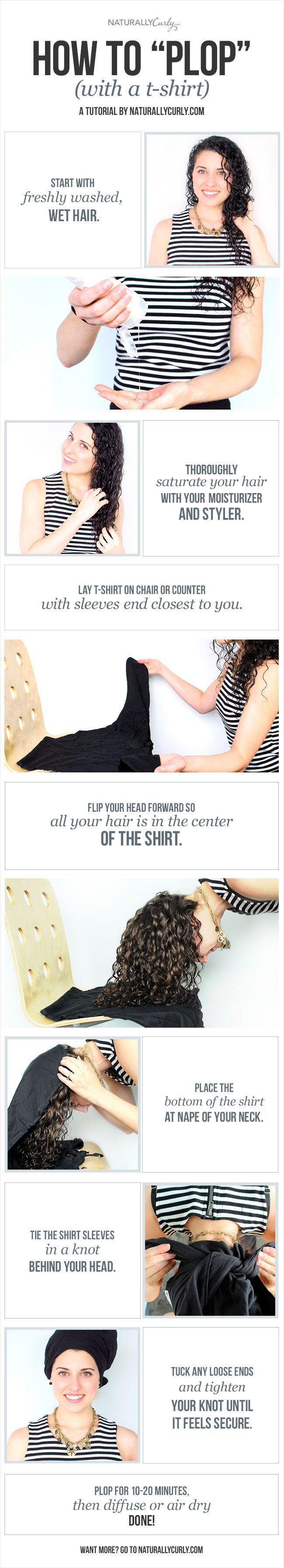 Cut down your air drying time without ruining your curls!                                                                                                                                                                                 More