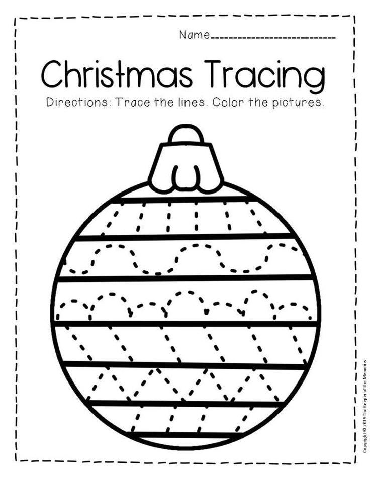 Free Printable Tracing Christmas Preschool Worksheets ...