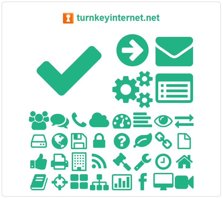 Font Awesome icon map of turnkeyinternet.net, discovered by fontawesome.info