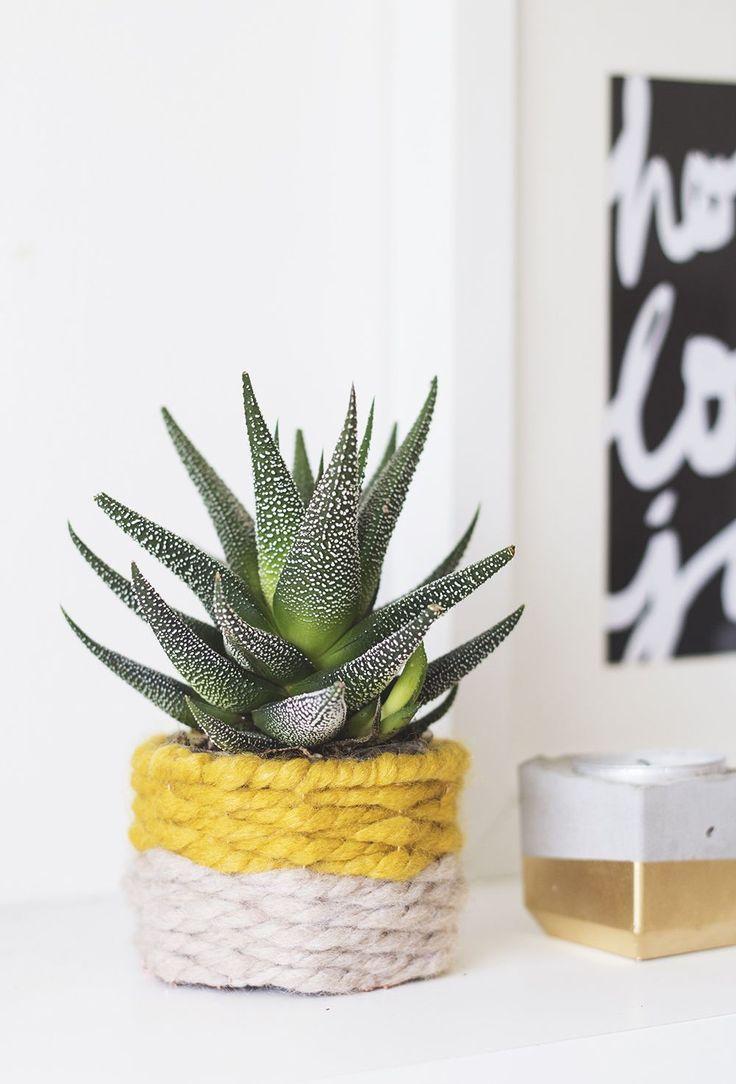 woven planter DIY