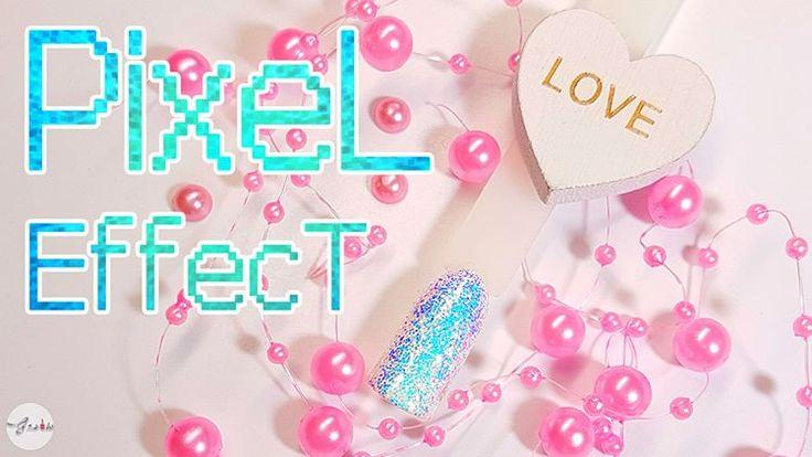 Paznokcie, nails, pixel effect, indigo, efekt kopciuszka, indigo nails, gnails, mermaid effect