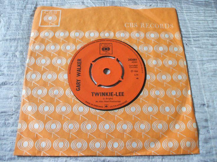 Gary Walker Twinkle-Lee b/w She Makes Me ORIG UK CBS 45 Walker Brothers MOD EX+