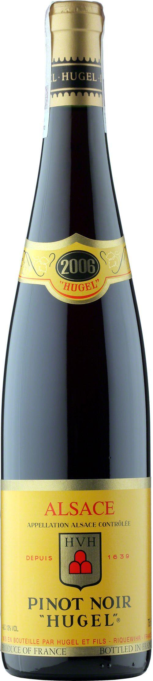 Hugel Pinot Noir Alsace A.O.C Pinot Noir to jeden z najszlachetniejszych szczepów, z którego rodzą się największe wina świata. Wino delikatne z posmakiem wiśni, malin i porzeczek. Idealne do wędlin, pasztetów oraz wędzonych ryb. #Hugel #Pinot #Noir #Wino #Winezja #Alzacja