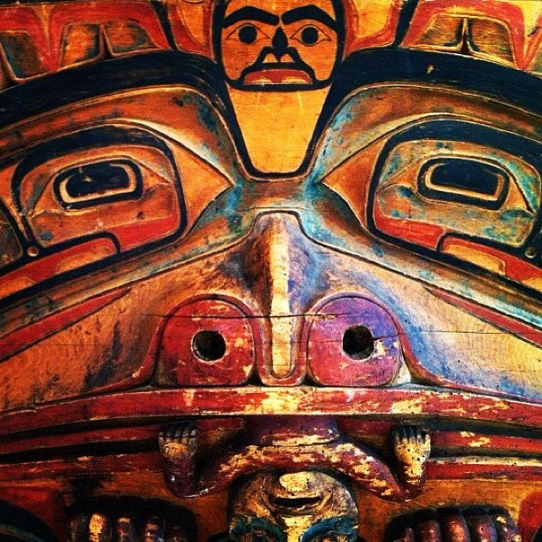 Mask from the Kwakwaka'wakw tribe - Unknown carver and date