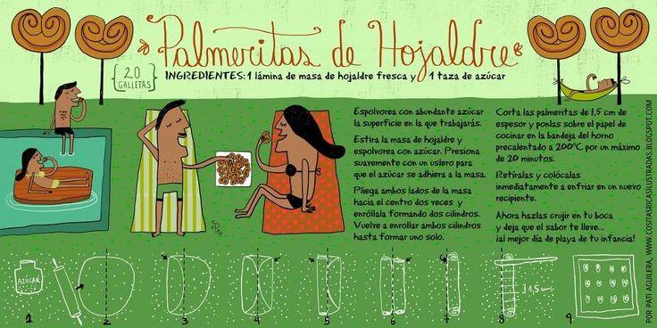 Palmeritas de Hojaldre de Cositas Ricas Ilustradas