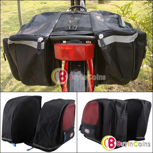 New Outdoor Waterproof Cycling Bicycle Bag Bike Big Rear Seat Tail Bag Pannier - 17$