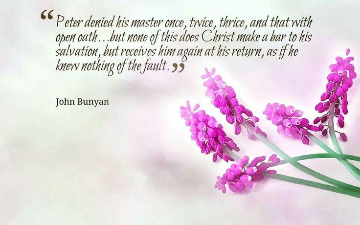 christian quotes | John Bunyan quotes | Peter | eternal security | repentance
