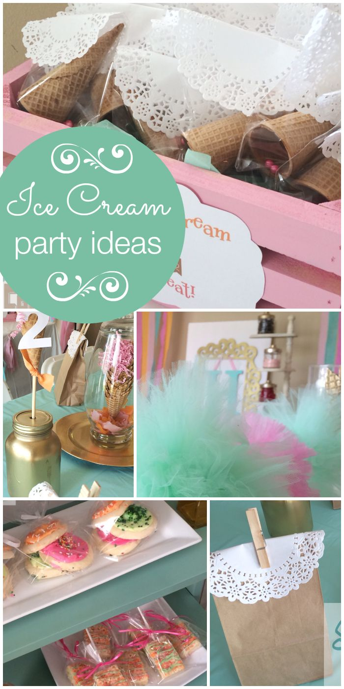Classroom Birthday Party Favors ~ Best ice cream party decorations images on pinterest