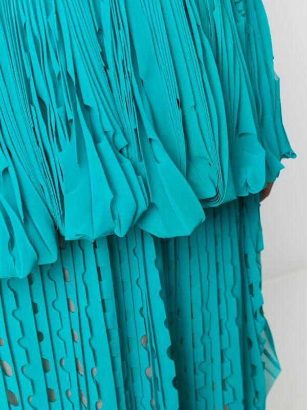 Marco De Vincenzo فستان ميدي برقبة مفتوحة Farfetch Fashion Style Midi Dress