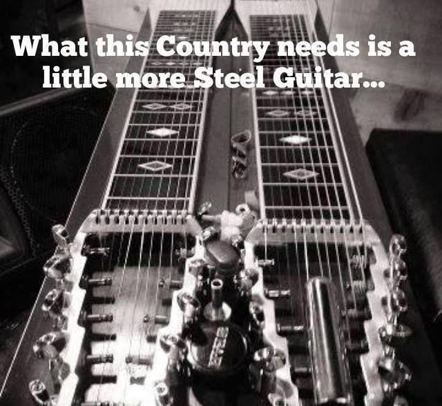 Steel Guitar One Of His Favorite Instruments