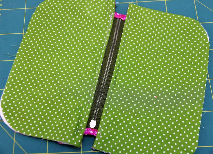 Sew the transition next to the zipper   – Anleitungen