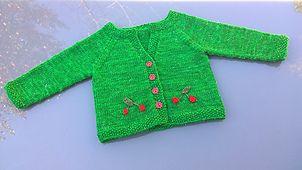 My Little Cherry cardigan, knitting pattern