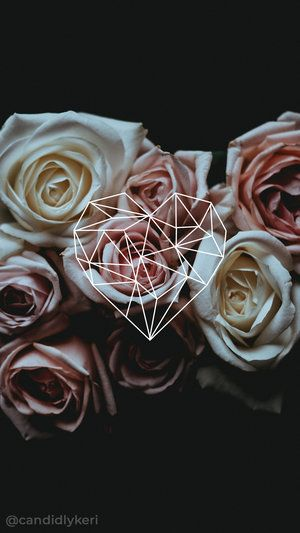 Flower roses diamond geometric shape background wallpaper you can download for free on the blog! For any device; mobile, desktop, iphone, android!