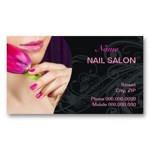 63 best customized nail salon business cards images on for Nail salon business card