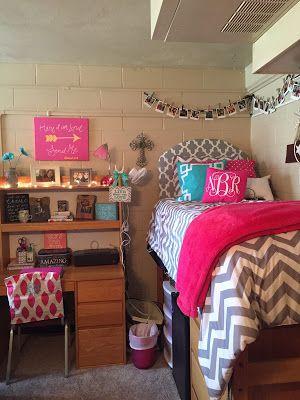 Preppy Girl College Dorm Room