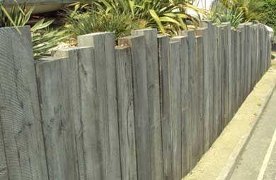 wooden sleeper wall