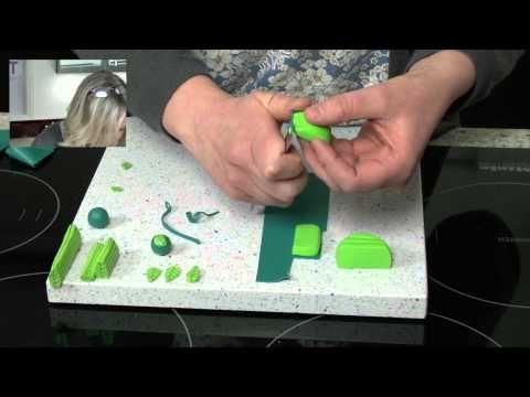 Polymer Clay Tutorials - Leaf Cane using Cernit Polymer Clay