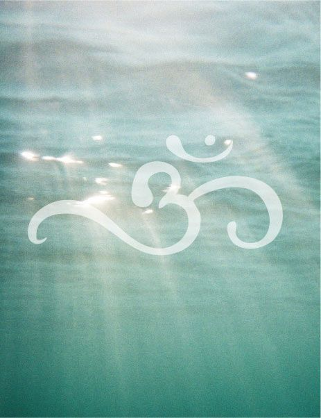 Serenity ~ Ohm Shanti Ohm as a white tattoo